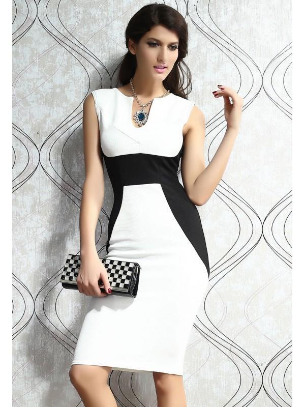 Robe blanc et noir pour femme