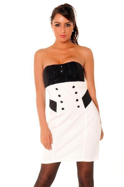 Robe blanc et noir