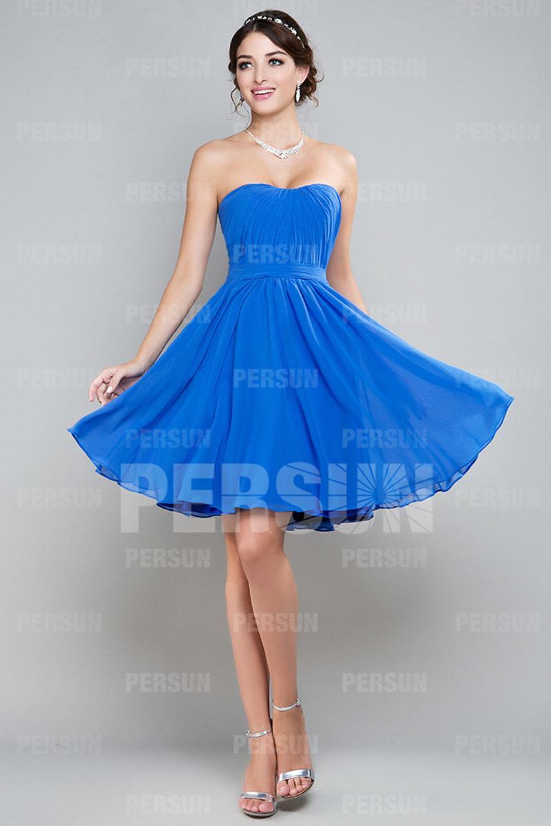 Robe bleu azur
