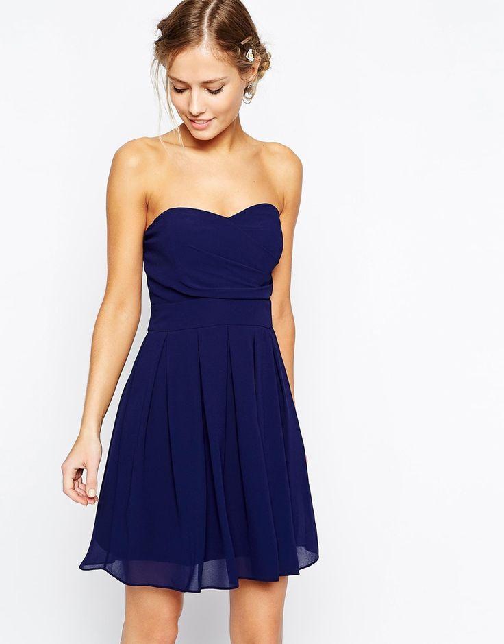 Robe bleu bustier