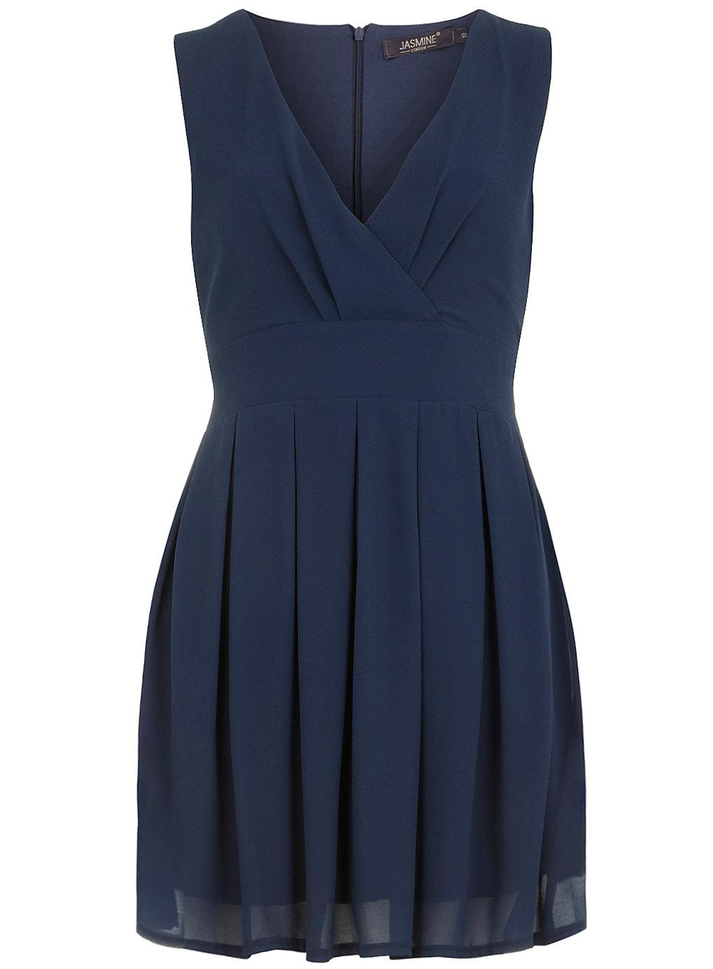 Robe bleu cache coeur