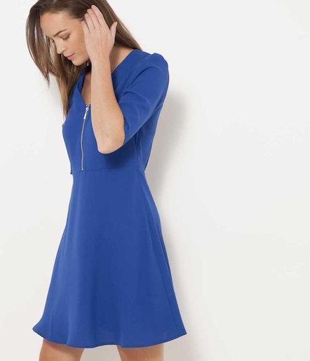 Robe bleu camaieu