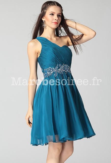 Robe bleu canard mariage