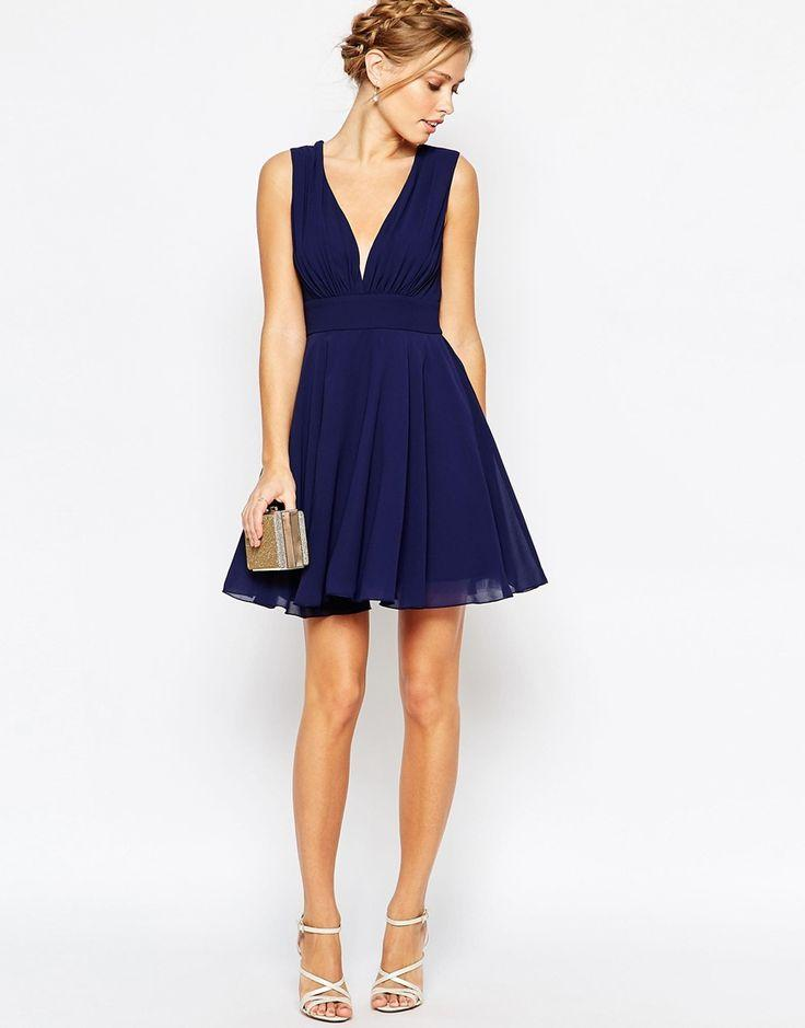 Robe bleu chic