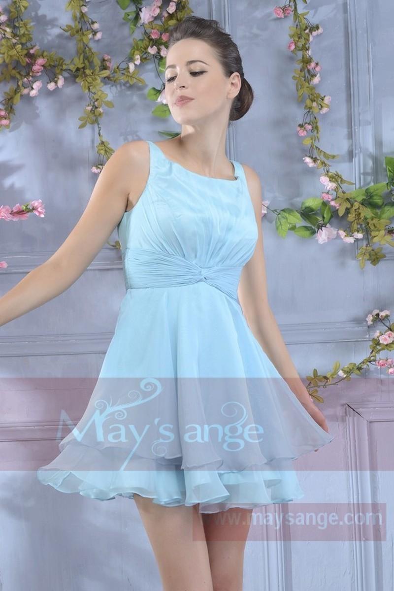 Robe bleu ciel courte