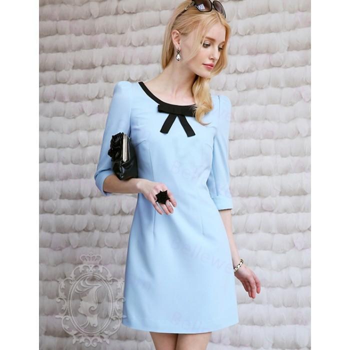 Robe bleu ciel femme