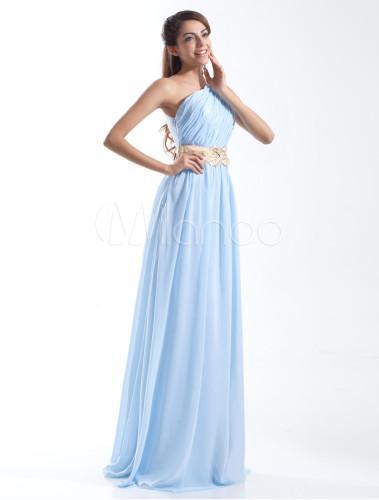 Robe bleu ciel soirée