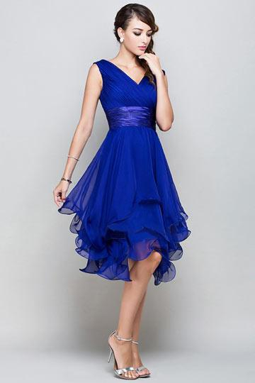 Robe bleu courte