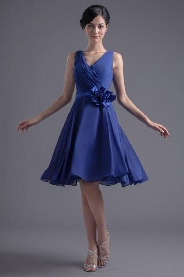 Robe bleu demoiselle d honneur