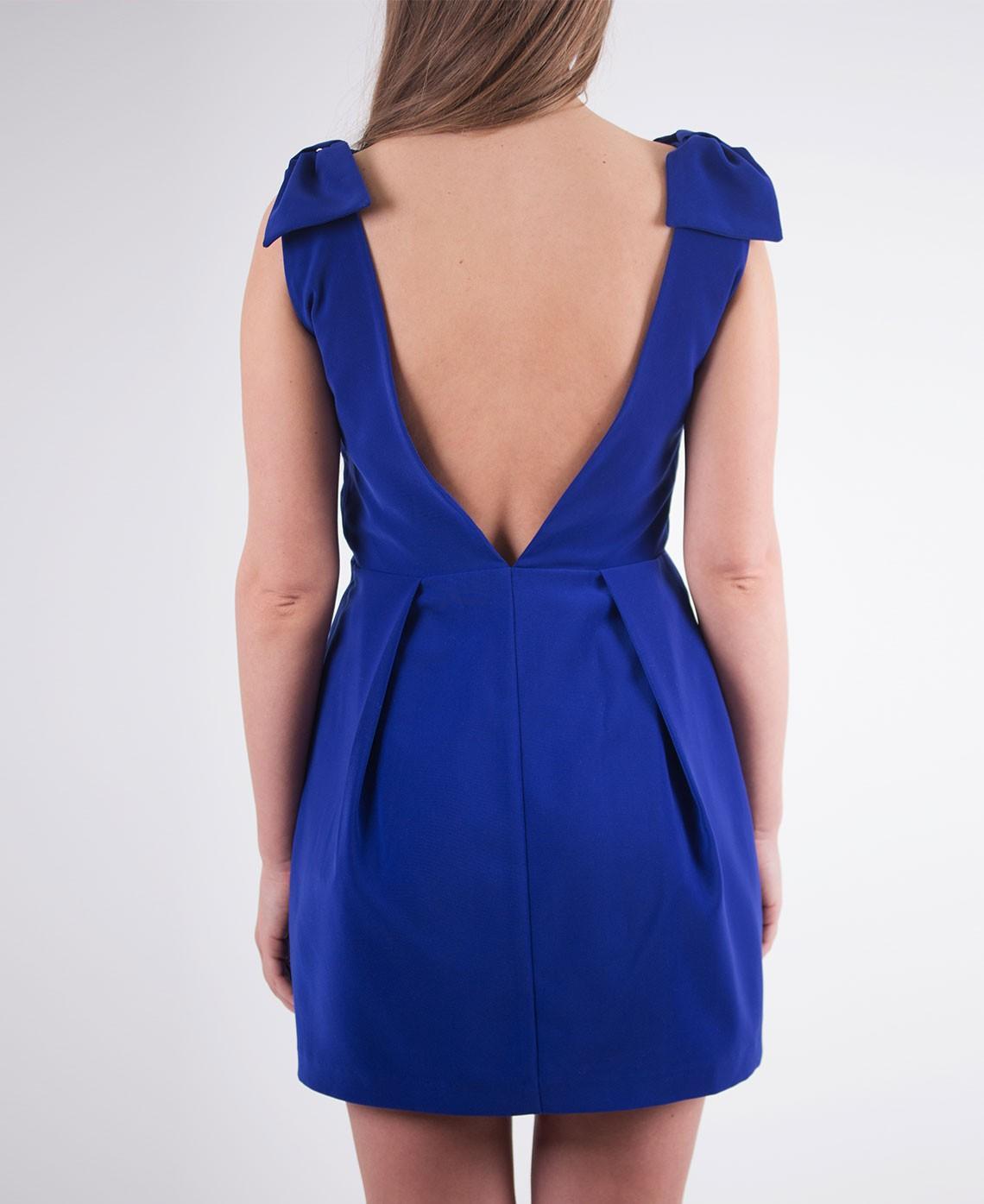 Robe bleu dos nu