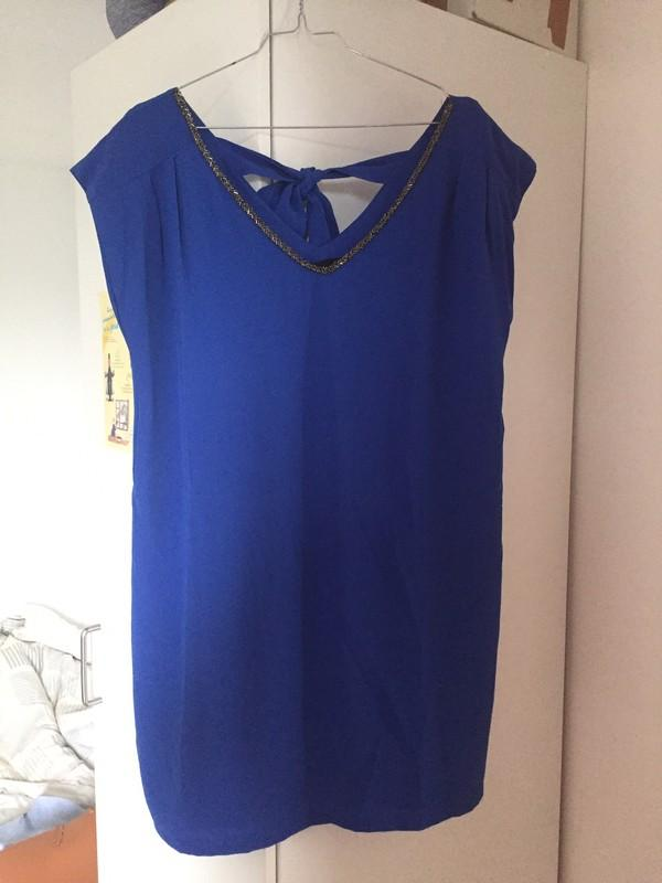 Robe bleu electrique etam