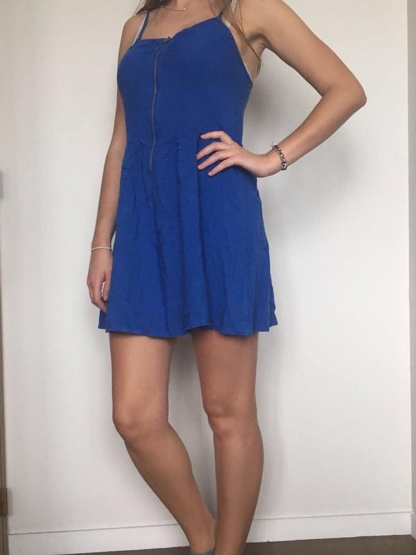 Robe bleu electrique h&m