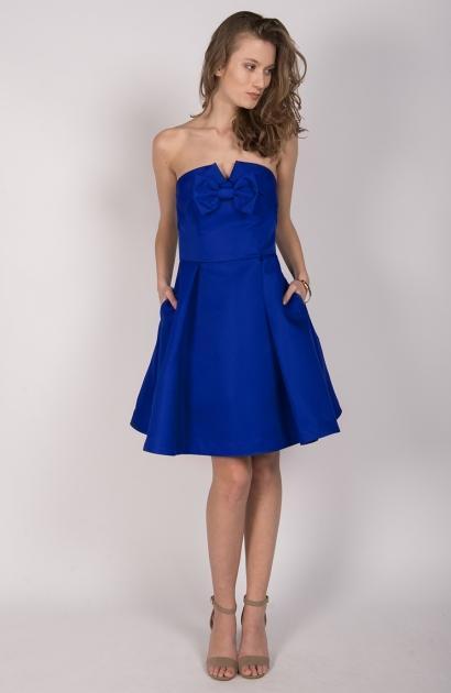 Robe bleu electrique mariage