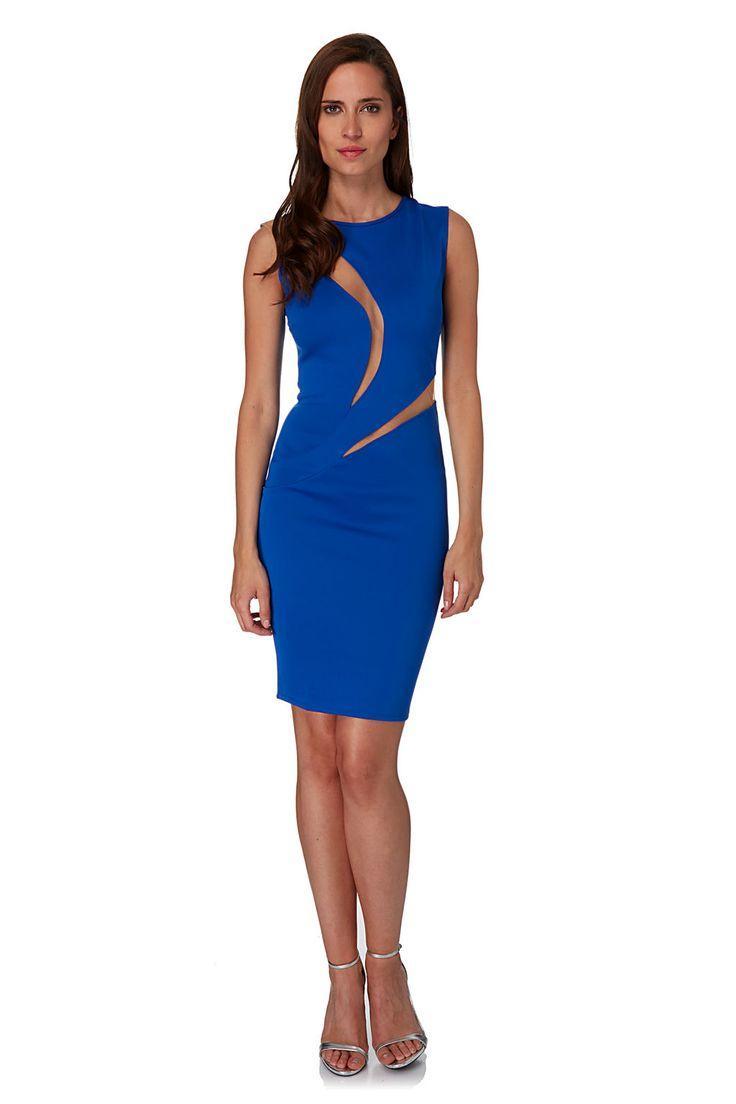 Robe bleu electrique