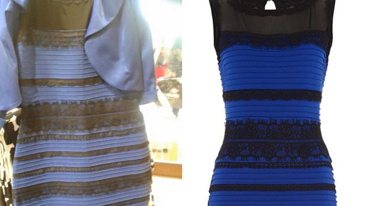 Robe bleu et blanche