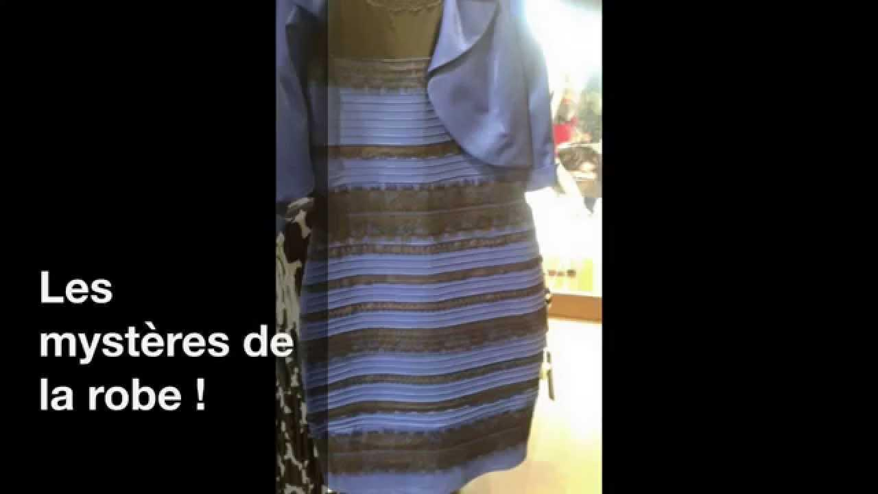 Robe bleu et noir illusion
