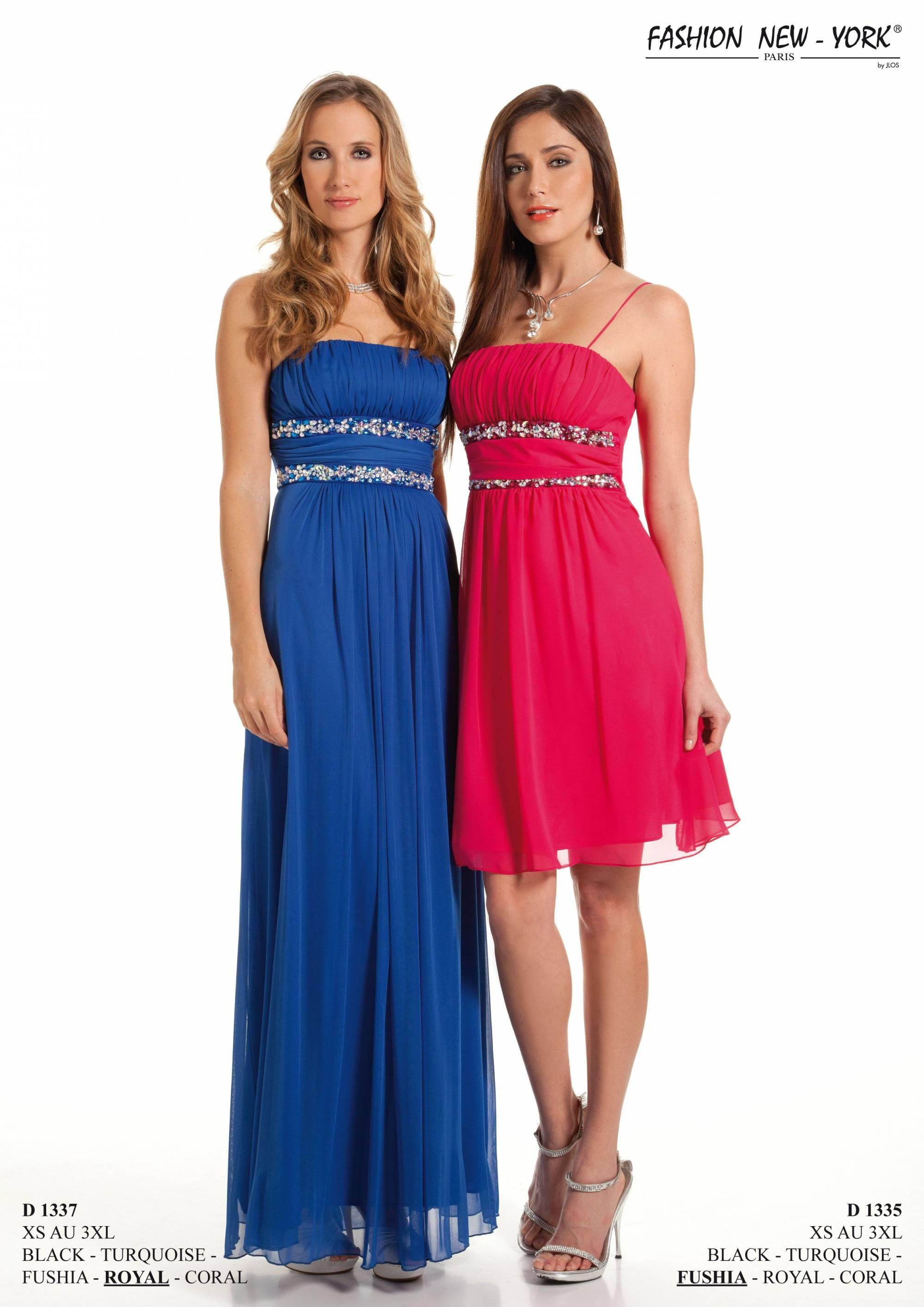 Robe bleu et rose