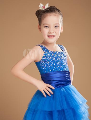 Robe bleu fille