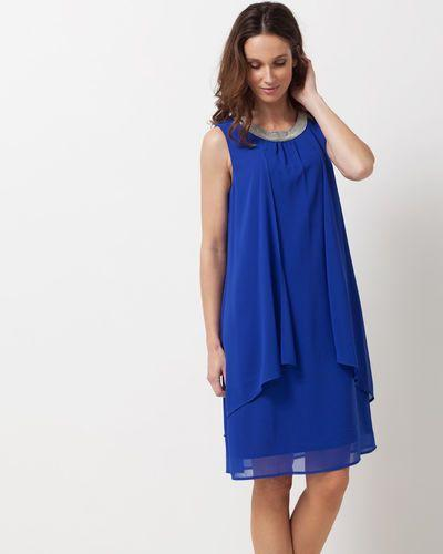 Robe bleu fluide
