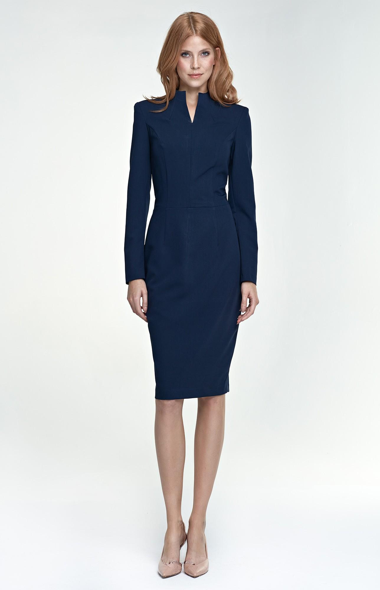 Robe bleu manche longue