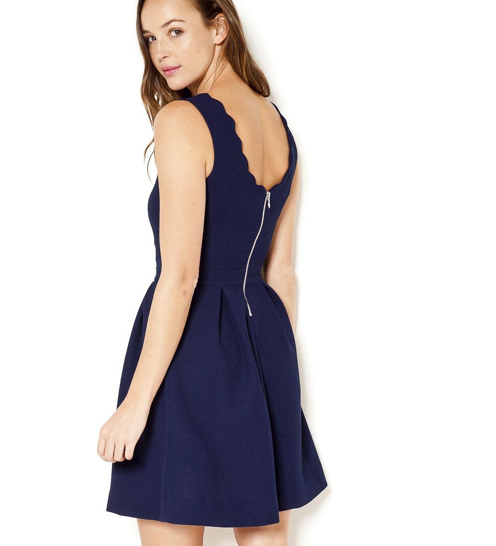 Robe bleu marine camaieu