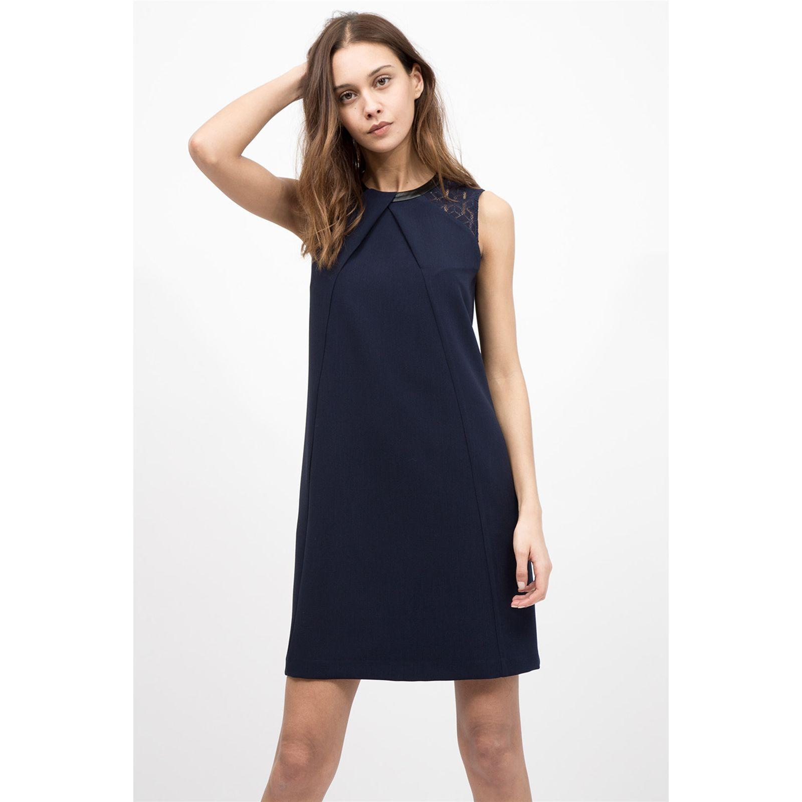 Robe bleu marine droite
