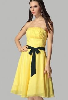 Robe bleu marine et jaune