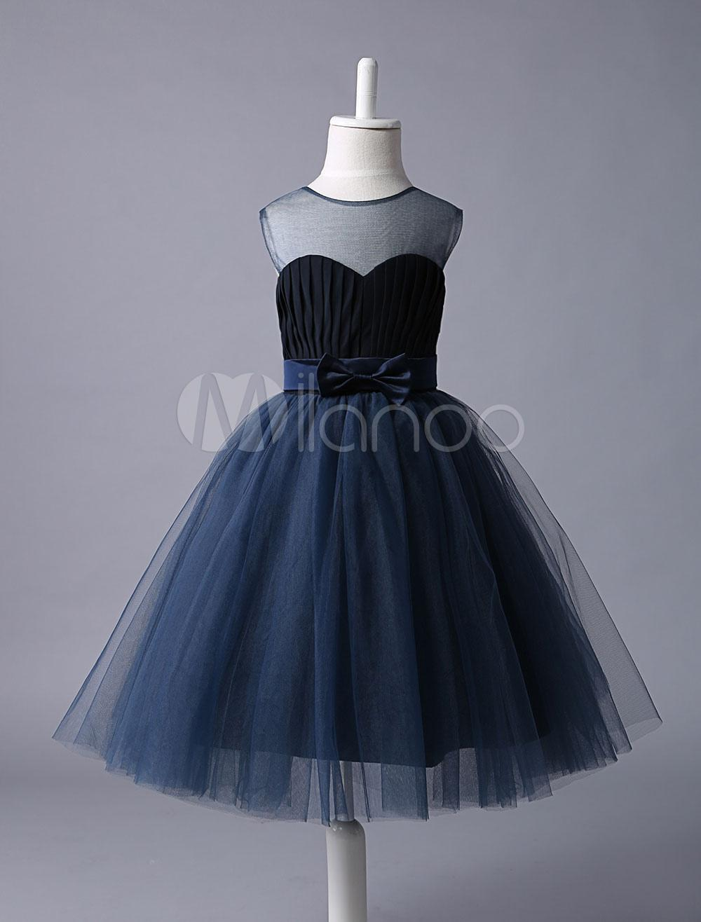 Robe bleu marine fille