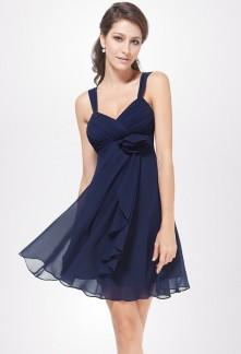 Robe bleu marine habillée