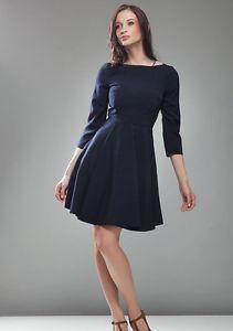 Robe bleu marine manche 3/4