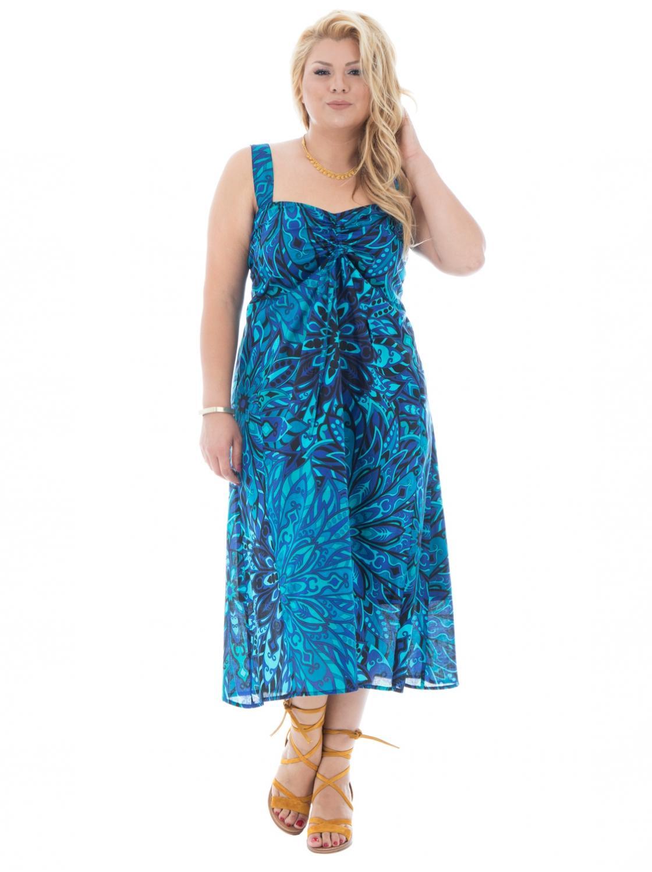 Robe bleu mi longue