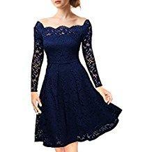 Robe bleu nuit dentelle