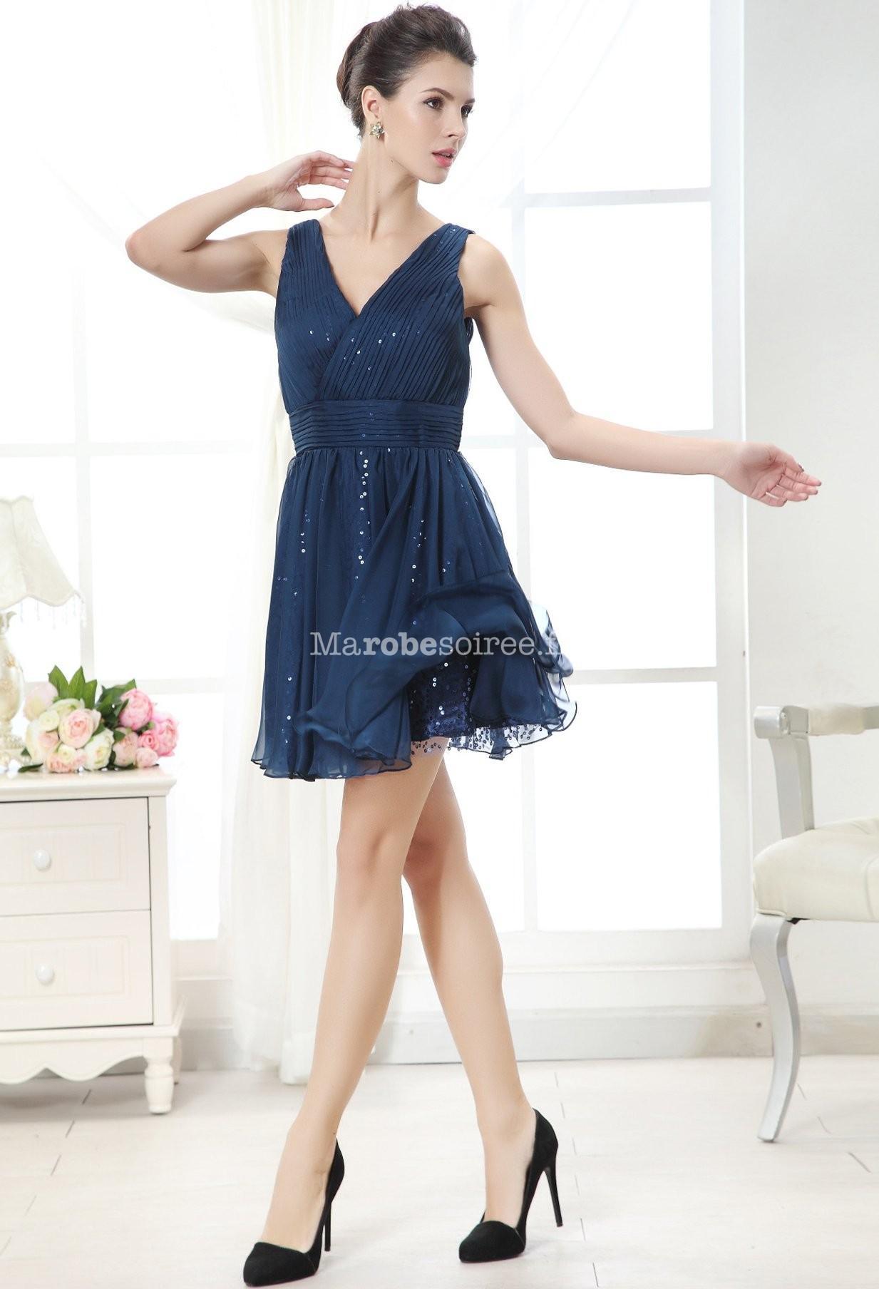 Robe bleu nuit pailleté