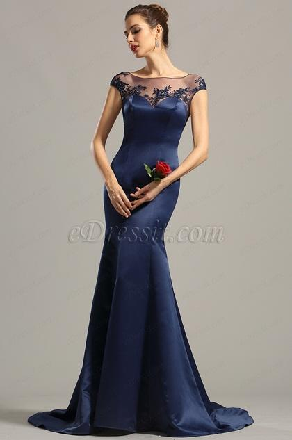Robe bleu nuit soirée