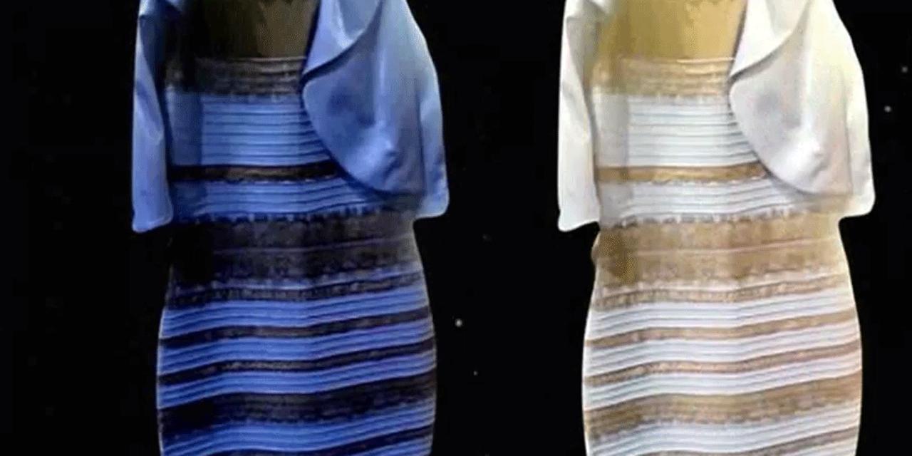 Robe bleu ou bleue