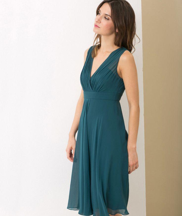 Robe bleu paon