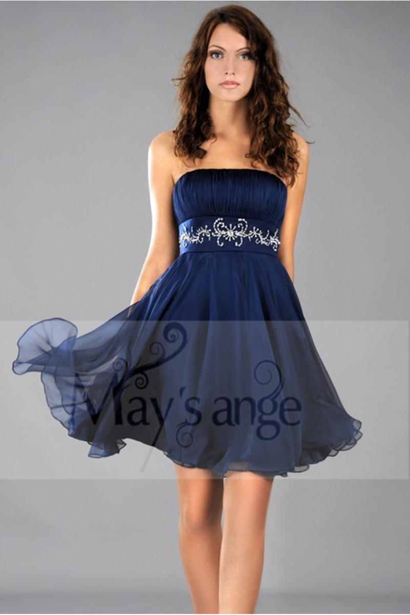 Robe bleu pour ceremonie