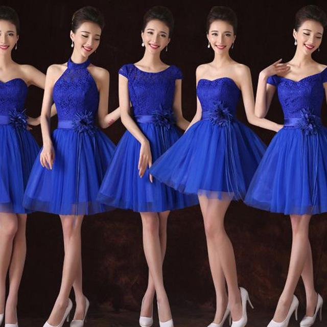 Robe bleu roi demoiselle d honneur