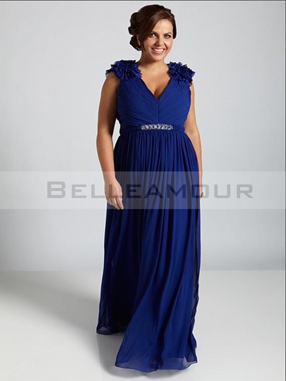 Robe bleu roi grande taille