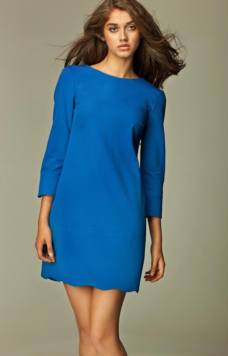 Robe bleu roi manche longue
