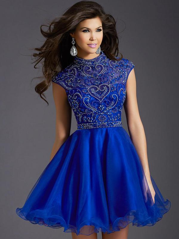 Robe bleu roi mariage