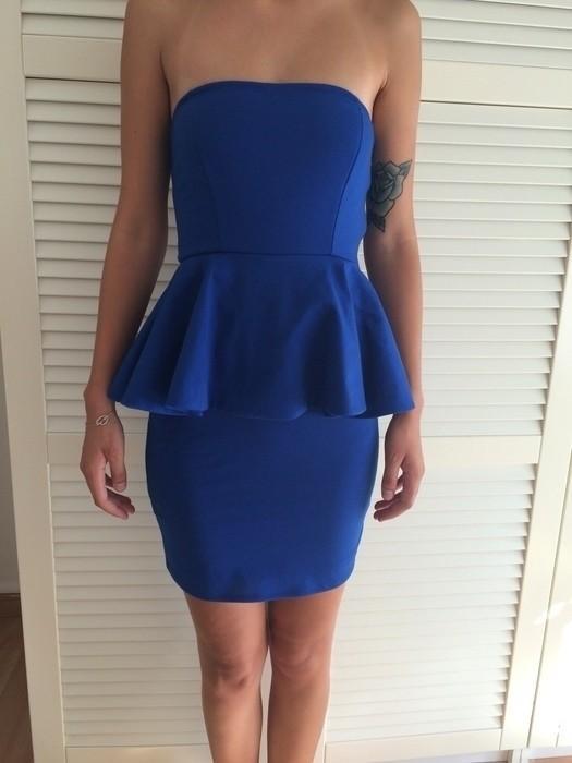 Robe bleu roi zara