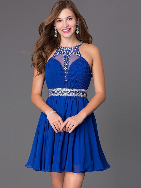 Robe bleu royal pas cher
