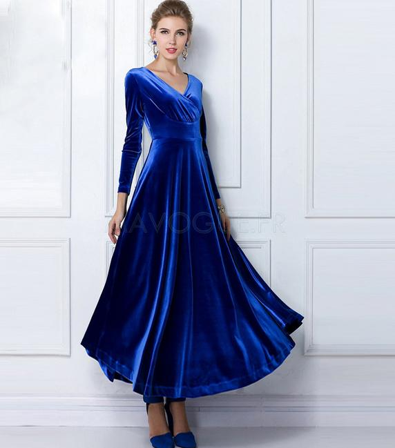 Robe bleu saphir