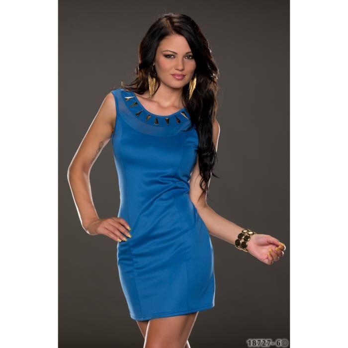 Robe bleu sexy