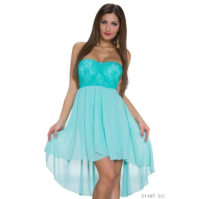 Robe bleu turquoise femme