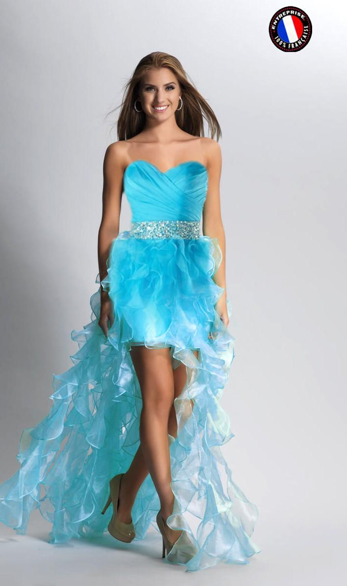 Robe bleu turquoise mariage