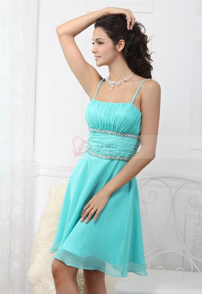 Robe bleu turquoise pas cher