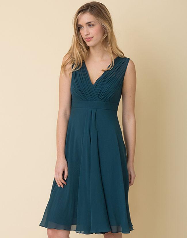 Robe bleu vert canard