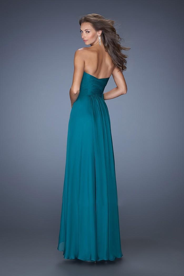 Robe bleu vert